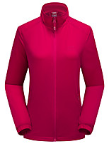 cheap -Women's Hiking Jacket Hiking Windbreaker Outdoor Solid Color Waterproof Lightweight Windproof Breathable Jacket Top Elastane Full Length Visible Zipper Fishing Climbing Running Purple Red Blue Pink