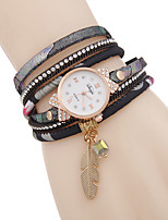 cheap -Women's Quartz Watches Analog - Digital Quartz Glitter Elegant Diamond / PU Leather