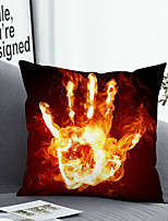 cheap -1 Pc Cushion Cover with or without Pillow Insert Double Side Print Fire Hand 38x38cm / 45x45cm Polyester