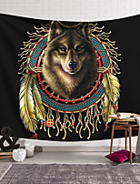 cheap -Wall Tapestry Art Decor Blanket Curtain Hanging Home Bedroom Living Room Decoration Polyester Wolf India