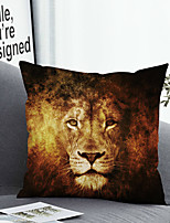 cheap -1 Pc Cushion Cover with or without Pillow Insert Double Side Print Lion 38x38cm / 45x45cm Polyester