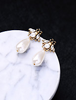 cheap -Women's Hoop Earrings Pear Cut Bee Vintage Classic Earrings Jewelry White For Wedding Party Stage 1 Pair