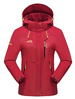 cheap -Women's Hiking Jacket Hiking Windbreaker Outdoor Solid Color Waterproof Lightweight Windproof Breathable Jacket Top Hunting Fishing Climbing Black Purple Red Orange Rose Red / Quick Dry