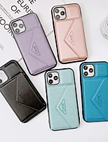 cheap -Case For Apple iPhone 12 / iPhone 11 / iPhone 12 Pro Max Shockproof / Dustproof / Magnetic Back Cover Solid Colored PU Leather / TPU