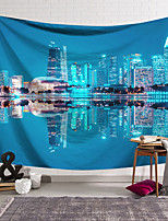 cheap -Wall Tapestry Art Decor Blanket Curtain Hanging Home Bedroom Living Room Decoration Polyester City Night View