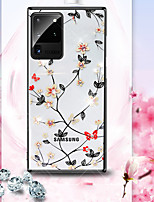 cheap -Flowers Solid border Case For Samsung S20 S20 Plus S20 Ultra S10 S10plus Note 10 10plus 9 Shockproof Back Cover Transparent PC