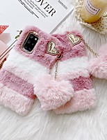 cheap -Case For Samsung Galaxy S21 / Galaxy S21 Plus / Galaxy S21 Ultra Shockproof Back Cover Heart / Plush TPU / Plush