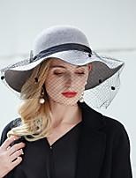 cheap -Elegant Fashion 100% Wool Hats with Bowknot 1pc Wedding Headpiece