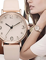 cheap -Women's Quartz Watches Quartz Stylish Elegant Large Dial Analog - Digital White Black Red / PU Leather