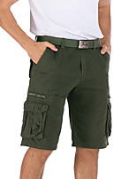 cheap -Men's Hiking Shorts Hiking Cargo Pants Solid Color Summer Outdoor Breathable Multi-Pockets Wear Resistance Scratch Resistant Cotton Bottoms Black Grey Khaki Green Hunting Fishing Climbing 30 31 32 33