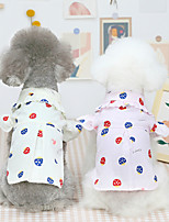 cheap -Dog Cat Shirt / T-Shirt Print Basic Adorable Cute Dailywear Casual / Daily Dog Clothes Puppy Clothes Dog Outfits Breathable 21 Mushroom Shirt-Beige 21 Mushroom Shirt-Pink Costume for Girl and Boy Dog