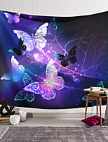 cheap -Wall Tapestry Art Decor Blanket Curtain Hanging Home Bedroom Living Room Decoration Polyester Purple Gold Butterfly Line