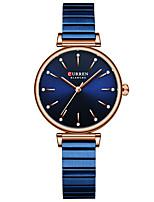 cheap -CURREN Women's Quartz Watches Quartz Fashion Water Resistant / Waterproof Analog Blue Blushing Pink Gold / One Year / Stainless Steel / Japanese