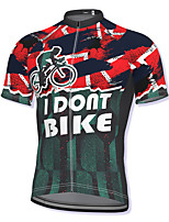 cheap -21Grams Men's Short Sleeve Cycling Jersey Red Bike Top Mountain Bike MTB Road Bike Cycling Breathable Quick Dry Sports Clothing Apparel / Athleisure