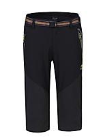 cheap -Men's Hiking Shorts Solid Color Outdoor Waterproof Breathable Quick Dry Stretchy Elastane Capri Pants Black Army Green Dark Gray Hunting Fishing Climbing L XL XXL XXXL 4XL / Zipper Pocket