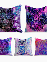 cheap -5 pcs Linen Pillow Cover, Animal Simple Casual Square Polyester Traditional Classic