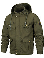 cheap -Men's Hiking Jacket Military Tactical Jacket Outdoor Quick Dry Lightweight Breathable Sweat wicking Jacket Top Hunting Fishing Climbing ArmyGreen Black