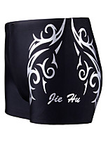 cheap -Men's Swim Shorts Swim Trunks Spandex Board Shorts Breathable Quick Dry Drawstring - Swimming Surfing Water Sports Painting Summer / Plus Size