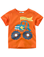 cheap -Boys' Short Sleeve T-Shirts Cartoon Off-Road Vehicle  Tees Round Neck Kids Tops for 3-7 Years