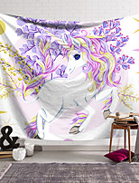 cheap -Wall Tapestry Art Decor Blanket Curtain Hanging Home Bedroom Living Room Decoration Polyester Fan Unicorn Raises Its Feet