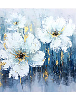 cheap -Oil Painting Handmade Hand Painted Abstract Flowers Wall Art Home Decoration Decor Stretched Frame Ready to Hang