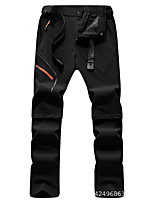 cheap -Men's Hiking Pants Trousers Convertible Pants / Zip Off Pants Solid Color Outdoor Windproof Breathable Quick Dry Stretchy Nylon Elastane Bottoms Black Army Green Khaki Green Hunting Fishing Climbing