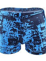 cheap -Men's Swim Shorts Swim Trunks Elastane Board Shorts Breathable Quick Dry Swimming Surfing Water Sports Painting Summer / Plus Size