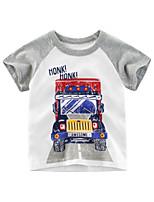 cheap -Kids Boys' T shirt Tee Graphic Print Short Sleeve Streetwear White
