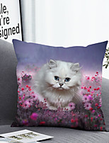 cheap -1 pcs Polyester Pillow Cover Pillow Cover & Insert, Floral Simple Classic Square Zipper Polyester Traditional Classic
