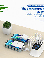 cheap -WINHOW New Fashion USB Charger with 8 Ports Led Display Fast Charging Mobile Phone Charger for iPhone Xiaomi Samsung Wall Adapter
