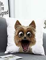 cheap -1 Pc Cushion Cover with or without Pillow Insert Double Side Print Dog Animal 38x38cm / 45x45cm Polyester