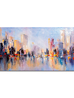 cheap -Oil Painting Handmade Abstract Landscape Painting Hand Painted Wall Art Home Decoration Stretched Frame Ready to Hang