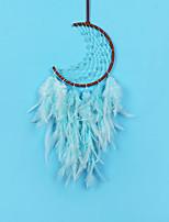 cheap -LED Boho Dream Catcher Handmade Gift Wall Hanging Decor Art Ornament Craft Feather Moon 50*16cm for Kids Bedroom Wedding Festival
