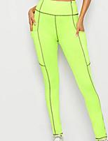 cheap -Women's Sports Leggings Sweatpants Pants Plain Full Length Green