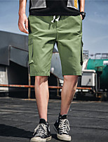 cheap -Men's Hiking Shorts Hiking Cargo Shorts Solid Color Outdoor Windproof Breathable Wear Resistance Scratch Resistant Cotton Shorts Black Khaki Green Hunting Fishing Climbing M L XL XXL XXXL