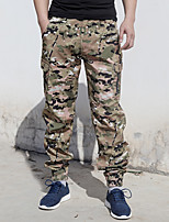 cheap -Men's Hiking Pants Trousers Hiking Cargo Pants Solid Color Outdoor Windproof Breathable Wear Resistance Scratch Resistant Cotton Bottoms Black Army Green Camouflage Khaki Camouflage Gray Hunting