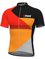 cheap -21Grams Men's Short Sleeve Cycling Jersey Orange Patchwork Bike Top Mountain Bike MTB Road Bike Cycling Breathable Quick Dry Sports Clothing Apparel / Athleisure