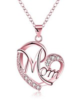 cheap -Pendant Necklace Women's Zircon Heart Dainty Simple Initial Cute Cute Rose Gold Gold Silver 44+7 cm Necklace Jewelry 1pc for Gift Festival Heart Shape