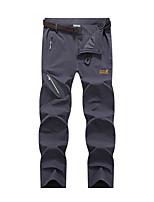cheap -Men's Hiking Pants Trousers Solid Color Summer Outdoor Windproof Breathable Quick Dry Stretchy Bottoms Black Army Green Dark Gray Light Grey Hunting Fishing Climbing L XL XXL XXXL 4XL / Zipper Pocket