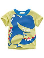 cheap -Kids Boys' T shirt Tee Dinosaur Animal Print Short Sleeve Streetwear Green