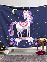 cheap -Wall Tapestry Art Decor Blanket Curtain Hanging Home Bedroom Living Room Decoration Polyester Color Unicorn Cute Closed Eyes
