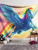 cheap -Wall Tapestry Art Decor Blanket Curtain Hanging Home Bedroom Living Room Decoration Polyester Rainbow Blue Unicorn Flying