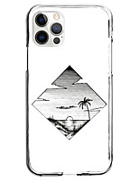 cheap -Patterned Nature & Landscapes Case For Apple iPhone 12 iPhone 11 iPhone 12 Pro Max Unique Design Protective Case Shockproof Pattern Back Cover TPU