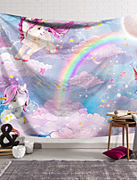 cheap -Wall Tapestry Art Decor Blanket Curtain Hanging Home Bedroom Living Room Decoration Polyester Color Unicorn Cute