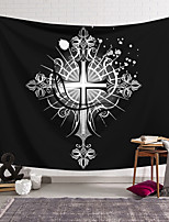 cheap -Wall Tapestry Art Decor Blanket Curtain Hanging Home Bedroom Living Room Decoration Polyester Cross Badge White Background