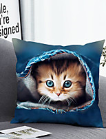 cheap -1 pcs Polyester Pillow Cover Pillow Cover & Insert, 3D Simple Classic Square Zipper Polyester Traditional Classic