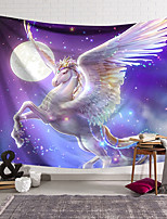 cheap -Wall Tapestry Art Decor Blanket Curtain Hanging Home Bedroom Living Room Decoration Polyester White Horse Wings