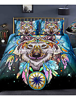 cheap -Wolf Dreamcatcher 3-Piece Duvet Cover Set Hotel Bedding Sets Comforter Cover with Soft Lightweight Microfiber, Include 1 Duvet Cover, 2 Pillowcases for Double/Queen/King(1 Pillowcase for Twin/Single)