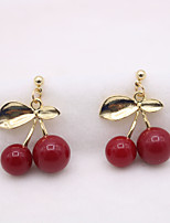 cheap -Women's Earrings Classic Cherry Fruit Vintage Classic Earrings Jewelry Red For Gift Daily 1 Pair