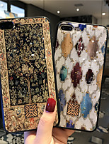 cheap -Gold Sprinkle Phone Case For iPhone 12 Pro Max iPhone 11 SE 2020 Shockproof Single Side Brown Tree Tile Geometric Pattern Glitter Shine TPU Case for iPhone 8 Plus
